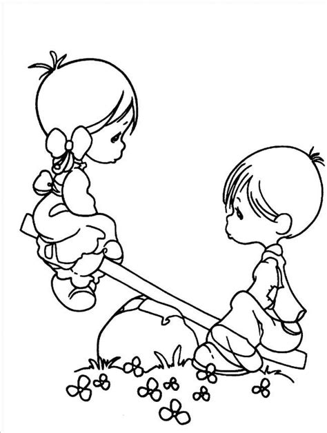 Friend Tattoos – Boy And Girl Precious Moments Coloring Pages – Precious Moments cartoon