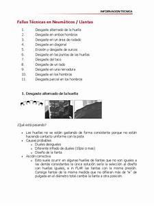 Informaci U00f3n T U00e9cnica  Fallas En Neum U00e1ticos