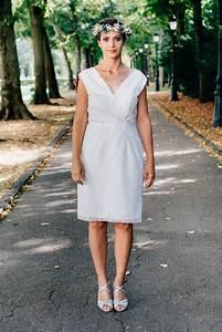 Robe Courte Mariée : robe de mariee civile en dentelle avec dos nu en v sur mesure ~ Melissatoandfro.com Idées de Décoration