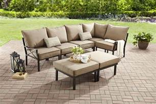 mainstays sandhill 7 outdoor sofa sectional set on