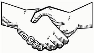 Hand Shake hand drawn icon animation with transparent ...