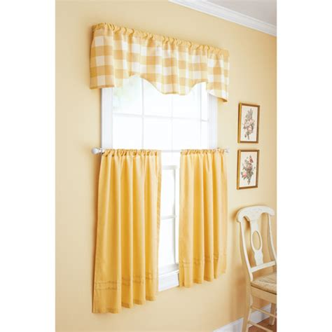 kitchen curtains at walmart better homes and gardens checks and solids window set