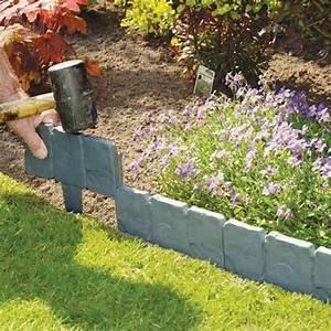 1, 10pcs, 10x25cm, Plastic, Garden, Lawn, Grass, Edging, Border, Traditional, Grey, Stone, Effect, Mulch