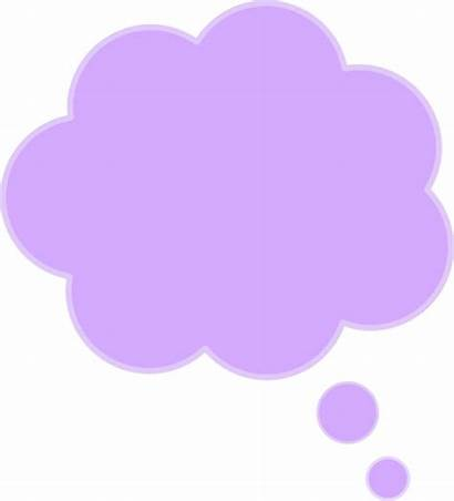 Bubble Purple Cloud Thought Clipart Clip Thoughts
