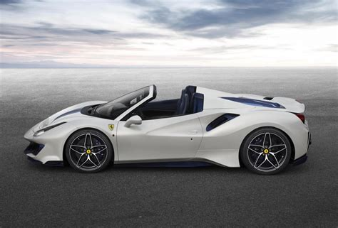 Pricing remains to be seen, but anticipate a sticker. Ferrari 488 Pista Spider revealed at Pebble Beach | PerformanceDrive