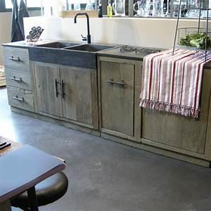 Cuisine En Bois Brut : meuble cuisine ind pendant bois le bois chez vous ~ Teatrodelosmanantiales.com Idées de Décoration