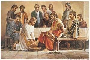 Jesus Washing Feet of Disciples Pictures