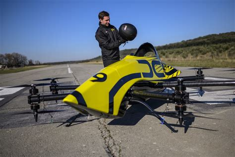 big drone  manned aerobatic drone successfully completes test flight  flighter