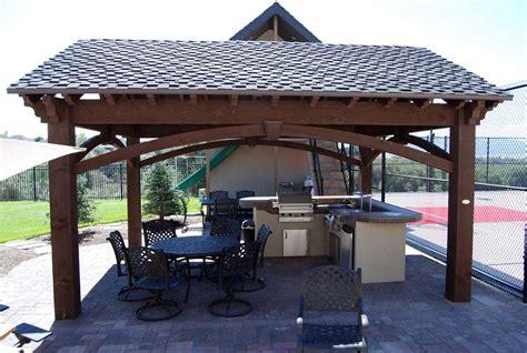 plan   easy    diy solid wood pergola  pavilion western timber frame