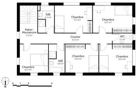 plan maison 3 chambres etage plan de maison a etage 5 chambres ventana