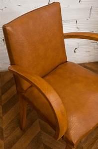 Fauteuil Simili Cuir : fauteuil bridge en simili cuir camel arteslonga ~ Teatrodelosmanantiales.com Idées de Décoration