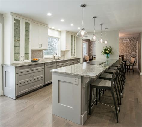 Ideas For Kitchen Countertops And Backsplashes - view of peninsula transitional kitchen toronto by tobi brockway interiors inc