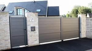 Portail En Aluminium : portail et portillon portail battant en aluminium sfrcegetel ~ Melissatoandfro.com Idées de Décoration