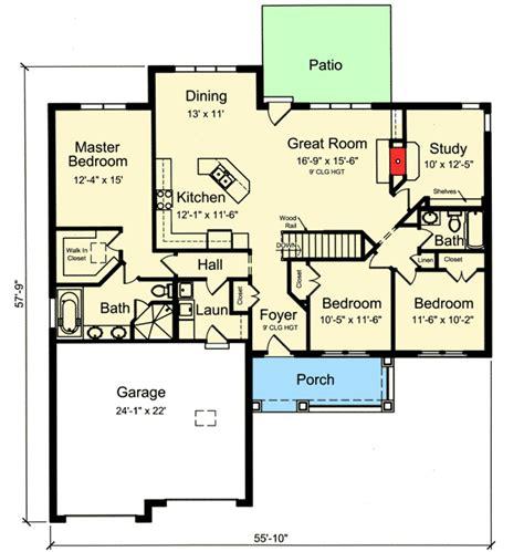 Split Bedroom Floor Plan by Plan 39225st One Story Split Bedroom House Plan For The