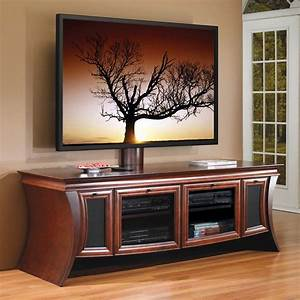 Furniture Black Wooden TV Stands With Mounts And Shelf
