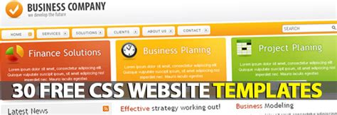 30 free premium css xhtml website templates freebies