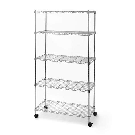 5 Shelf Storage Shelving Unit With Removable Locking
