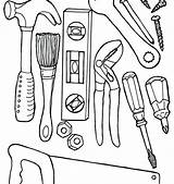 Tools Coloring Pages Construction Mechanic Doctor Drawing Equipment Tool Lab Science Sheet Heavy Getdrawings Getcolorings Printable Preschool Print Carpenter sketch template