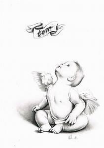 Dessin D Hirondelle Pour Tatouage : mod le pour tatouage d 39 un b b ange ange pinterest ~ Melissatoandfro.com Idées de Décoration