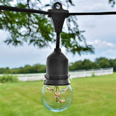 commercial outdoor globe string lights lighting and