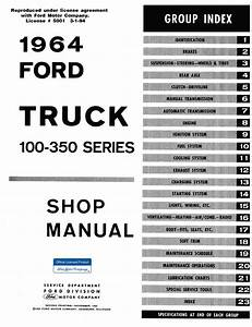 1964 Ford Truck Shop Manual