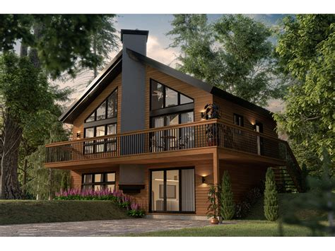 bryn crest rustic  frame home plan   house plans