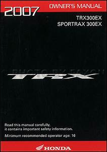 2007 Honda Fourtrax Recon Es Atv Owner U0026 39 S Manual Original Trx250te