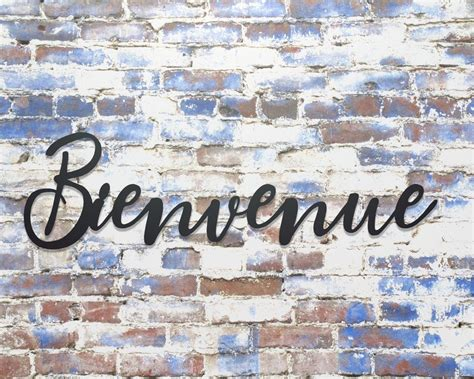 Bienvenue Metal Sign, Metal Word Sign, French Welcome ...
