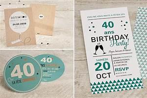 Faire Part Anniversaire 60 Ans : faire part 40 ans ~ Melissatoandfro.com Idées de Décoration