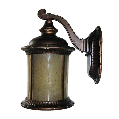 shop whitfield lighting 16 in h rubbed bronze outdoor