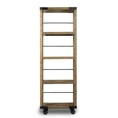 22 Wide Bookcase by Slim Industrial Bookcase On Wheels By Out There Interiors