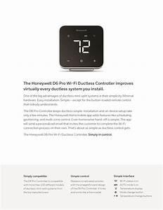 Honeywell Universal Ductless Mini Split Controller D6 Pro