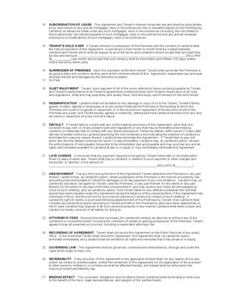 york standard residential lease agreement template