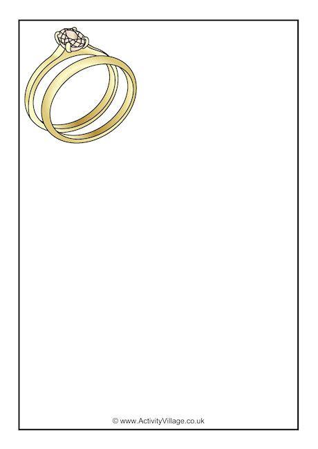 wedding rings writing paper