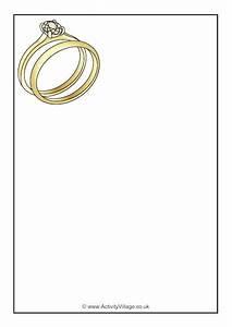 wedding rings writing paper With wedding ring writing