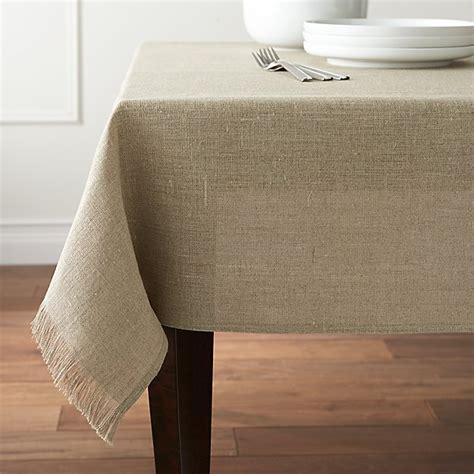 Beckett Natural Linen Tablecloth  Crate And Barrel