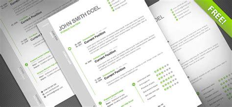cv resume free psd template uicloud