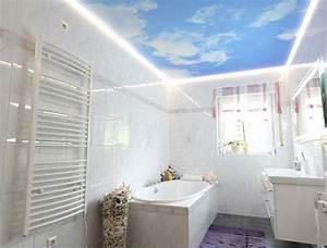 Www Plameco De : wolkendecke im badezimmer von plameco fotomotive an der decke ~ Frokenaadalensverden.com Haus und Dekorationen