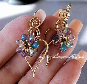 Charming Hearts 2 Earrings  Diy Wire Wrap Earring Tutorial