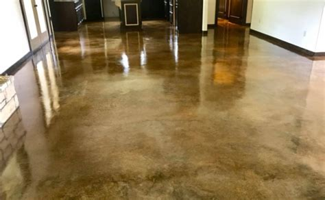 cost  stain concrete floors