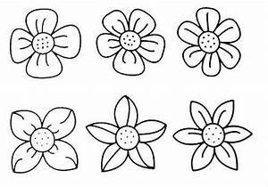 Раскраска для детей цветок | Детские раскраски ...