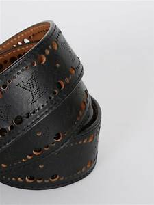 Louis Vuitton - Phoenix Mahina Leather Black Belt 95 ...