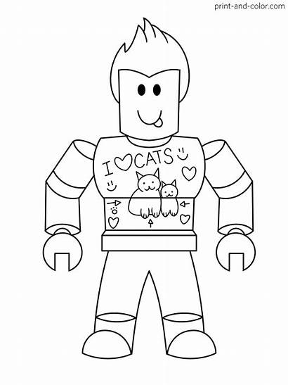 Roblox Coloring Pages Denis Daily Boys Games