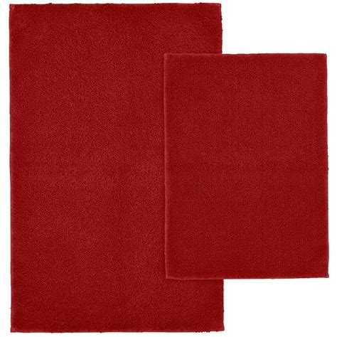 garland rug queen cotton chili pepper red      washable bathroom  piece rug set
