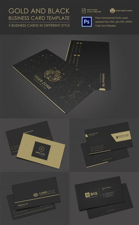 excellent black business card templates word psd