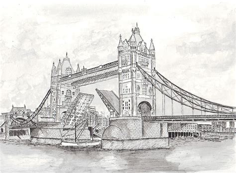 Tower Bridge In London Painting By Brian Thompson