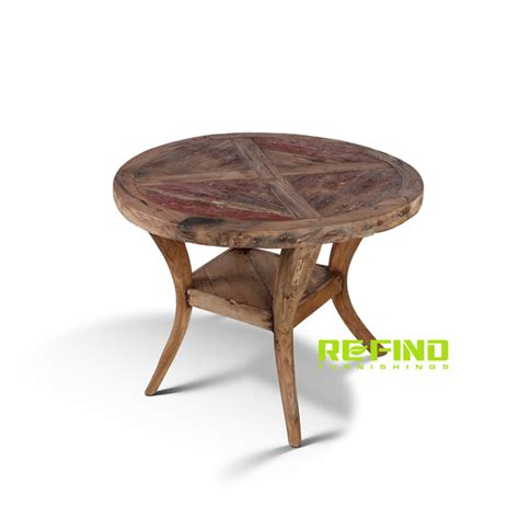 Round Wood Boat by Recycled Boat Wood Round Dining Table Small Indonesian