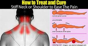 how to treat and ease the pain of a stiff neck or shoulder With best way to sleep with sore neck
