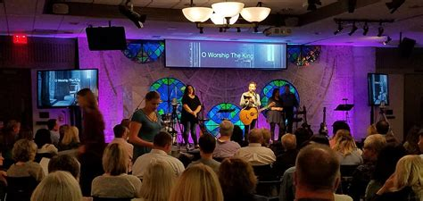 stained glass clock church stage design ideas
