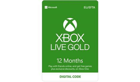 Xbox live 1 year card. Xbox Live Gold Membership - 12 Months | JC Lotto UK